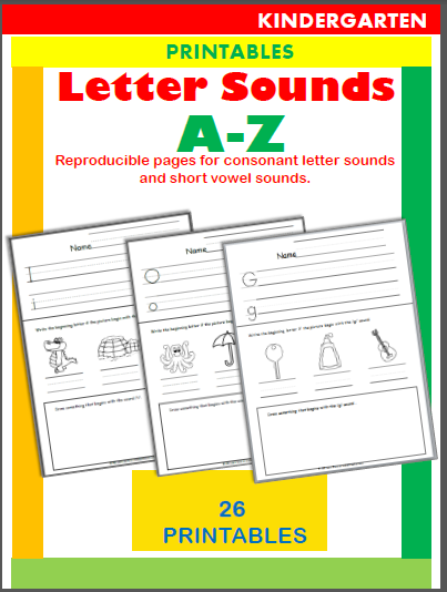 Letter Sounds Workbook Beginning Readers