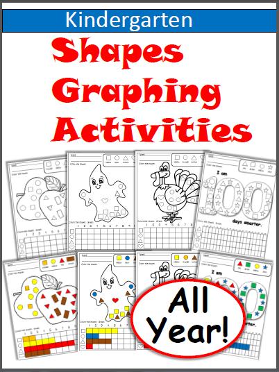 Shapes Graphing Bundle Worksheets