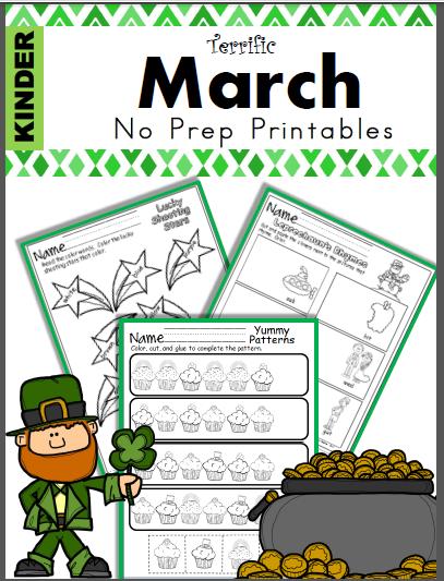 Kindergarten March Worksheets to Print
