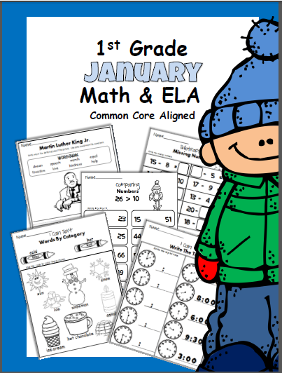January First Grade Workbook