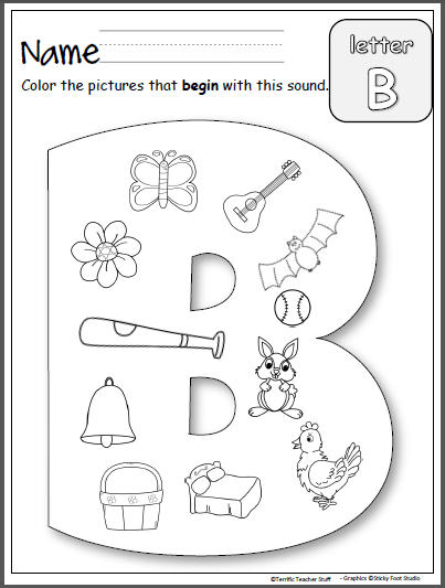 beginning sounds letter b madebyteachers. Black Bedroom Furniture Sets. Home Design Ideas