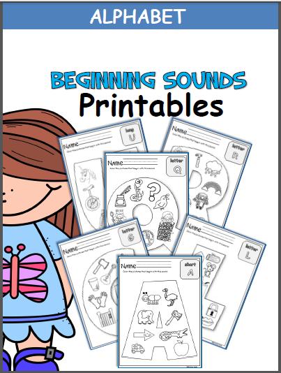 Beginning Alphabet Sounds Worksheets Kindergarten