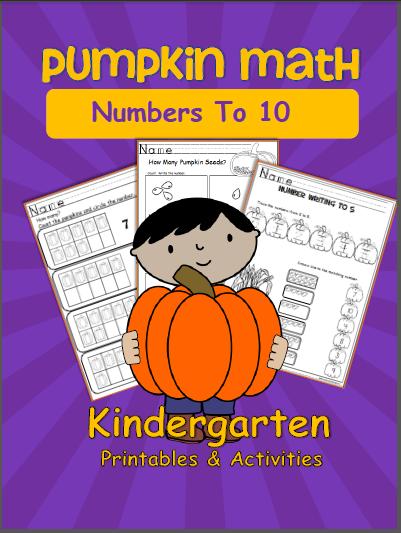 Pumpkin Math Worksheets Numbers