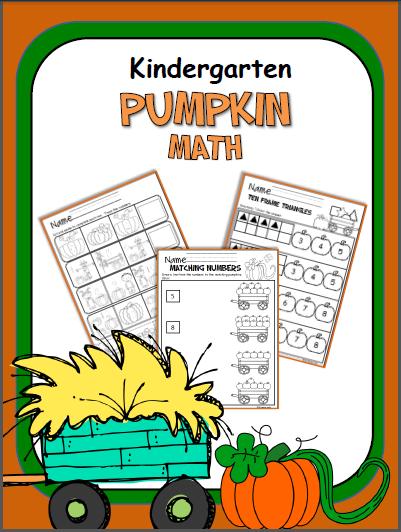 Pumpkin Math Workbook Kindergarten