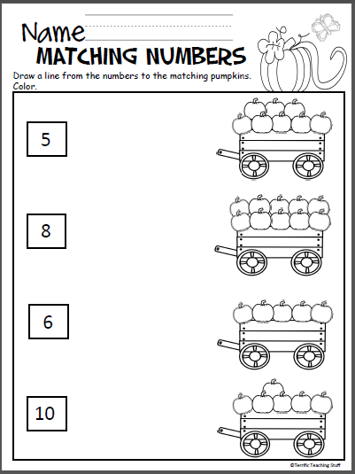 Pumpkin Math Packet For Kindergarten Madebyteachers