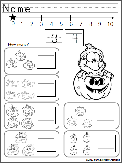 October Math And ELA Unit For Kindergarten (Common Core ...