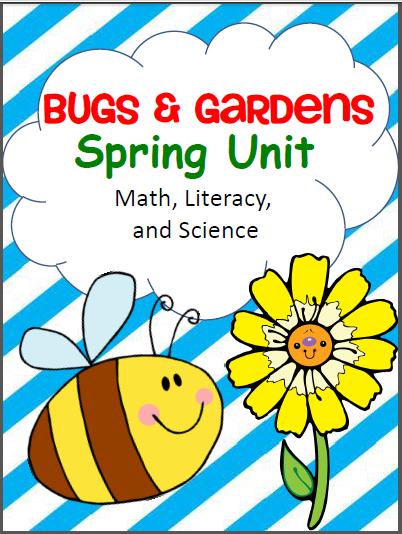 Bugs and Gardens Spring Worksheets