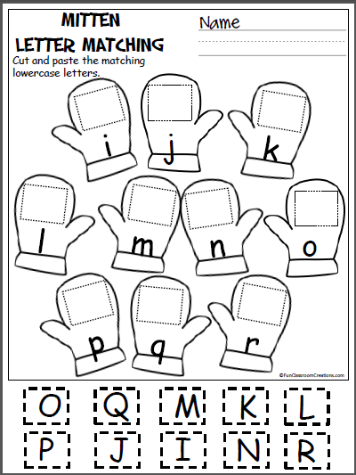 Free alphabet worksheets winter kindergarten