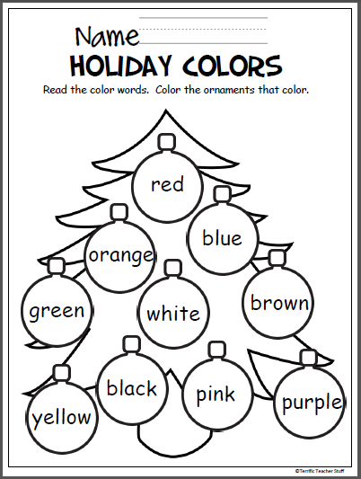 Colorful-Christmas-Tree Xmas Worksheet For Pre on trace letters, writing handwriting, re un, learning printable, maths concept for nursery, sight words printable,
