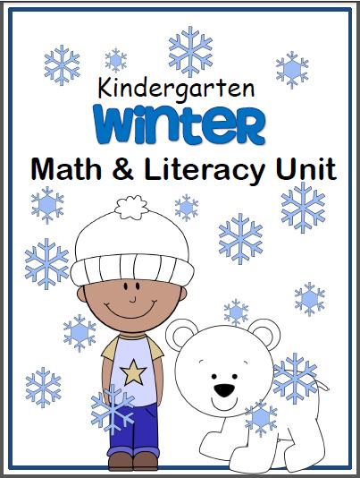 Winter Math and ELA Workbook Kindergarten