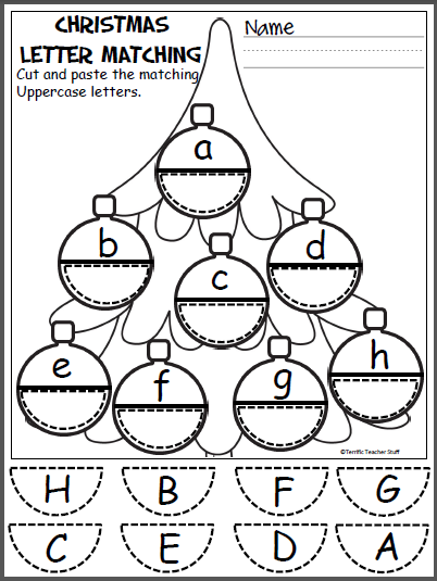Free Christmas Ornament Alphabet Printable