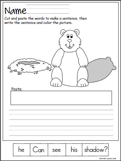Groundhog Day Scrambled Sentence Worksheet - Made By Teachers