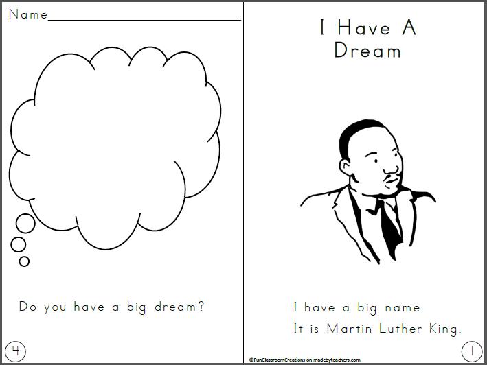 Free Martin Luther King Jr. mini book
