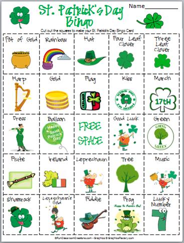 photo about St Patrick's Day Bingo Printable called St. Patricks Working day Bingo - Madebyteachers
