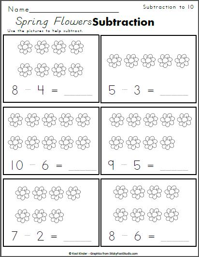 Free Spring Math Worksheet