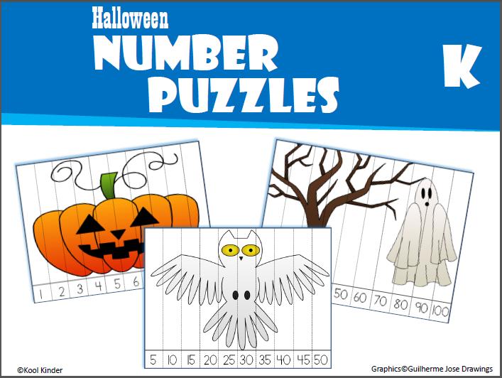 Halloween Number Puzzles Kindergarten