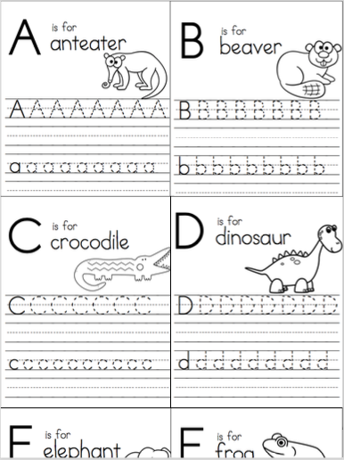 Alphabet Writing Practice Workbook
