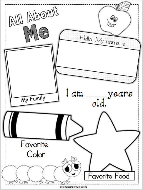 photo about All About Me Printable titled All Regarding Me Web site - Madebyteachers