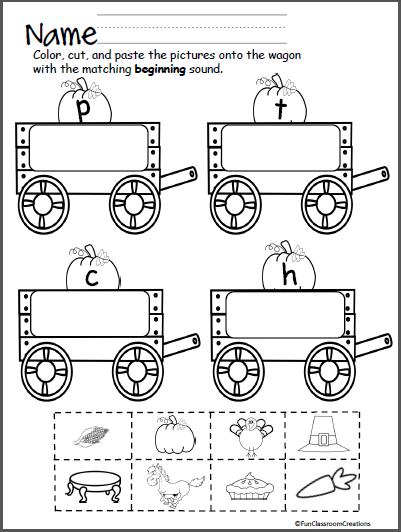 beginning sounds wagon letters p t c h madebyteachers. Black Bedroom Furniture Sets. Home Design Ideas