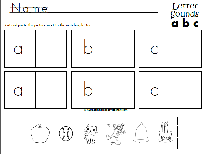 Beginning Sounds ABC (Cut And Paste)
