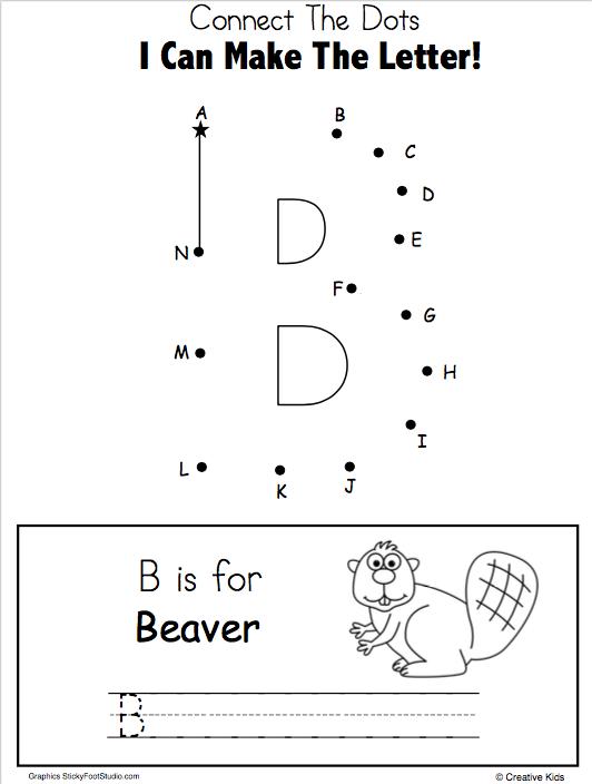 letter b writing and dot to dot worksheet madebyteachers. Black Bedroom Furniture Sets. Home Design Ideas