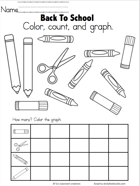 Back To School Graph Freebie - Graph and Count to 5 ...
