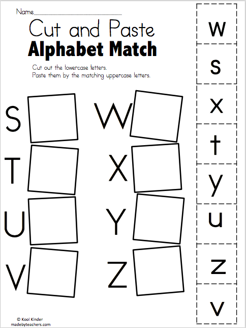 alphabet match s to z free worksheets madebyteachers. Black Bedroom Furniture Sets. Home Design Ideas