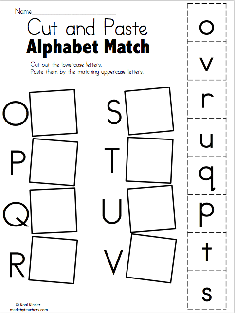 alphabet match o to v free worksheets madebyteachers. Black Bedroom Furniture Sets. Home Design Ideas