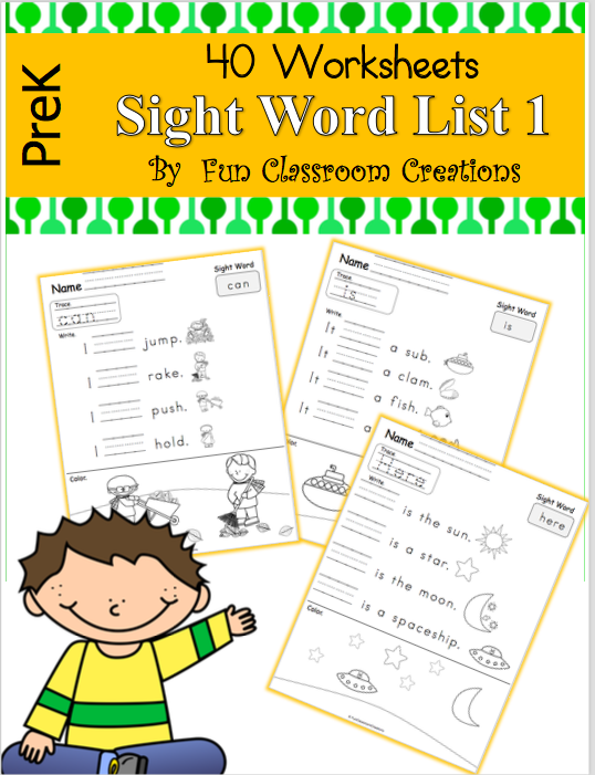 Sight Word Fluency Workbook