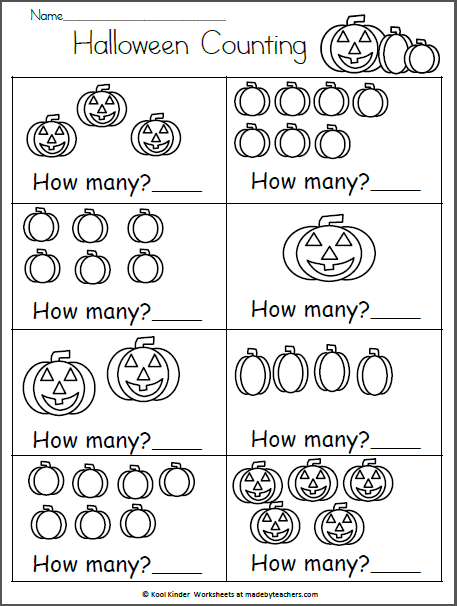 halloween math worksheet how many madebyteachers. Black Bedroom Furniture Sets. Home Design Ideas
