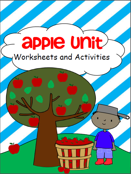 Kindergarten Apple Workbook