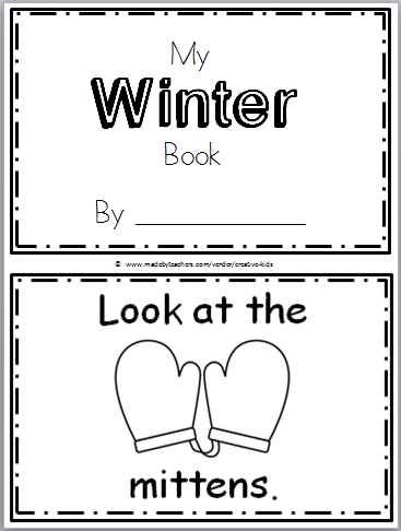 Free Winter Book Printable for Kindergarten