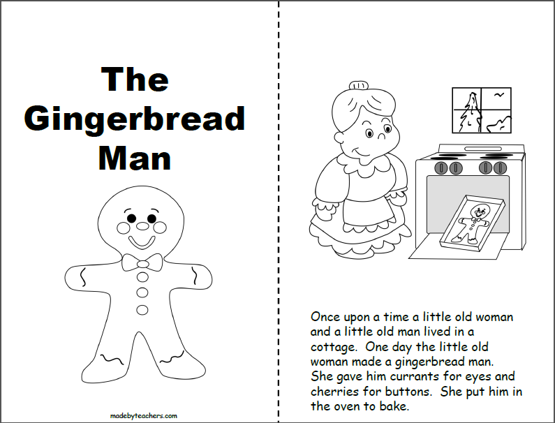 photograph about Printable Gingerbread Man named Gingerbread Person Printable Ebook (1st and 2nd) - Madebyteachers
