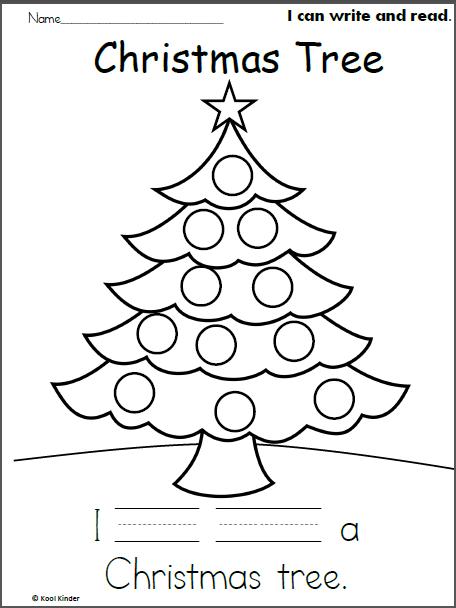 Christmas Tree Read and Write - Madebyteachers