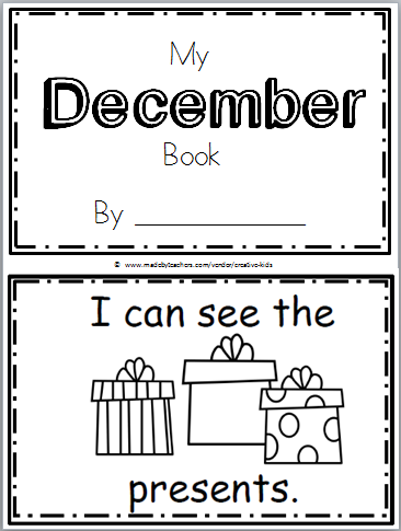 December Book for Kindergarten Free