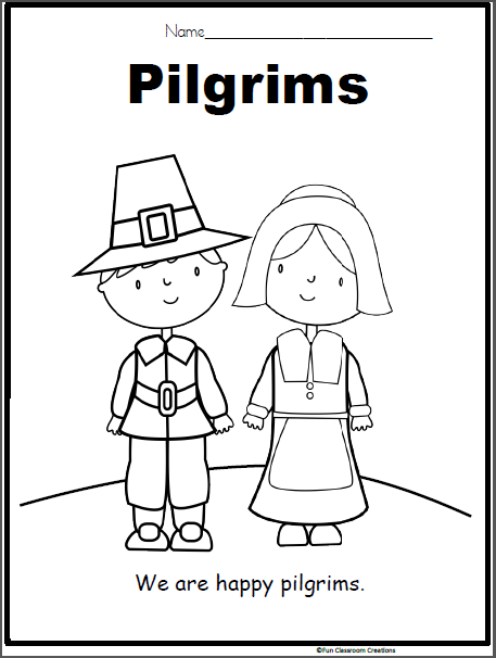 Thanksgiving Coloring Pages Printables Pilgrims - Coloring Home   606x457