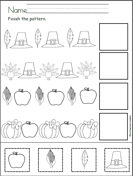 free thanksgiving patterns cut and paste madebyteachers. Black Bedroom Furniture Sets. Home Design Ideas