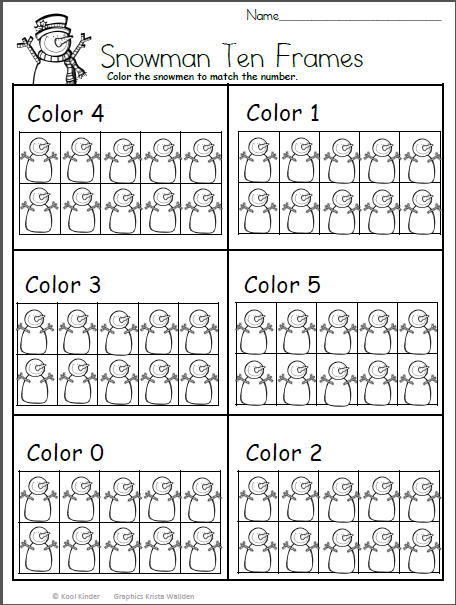 Color The Snowman Math For Kindergarten - Made By Teachers