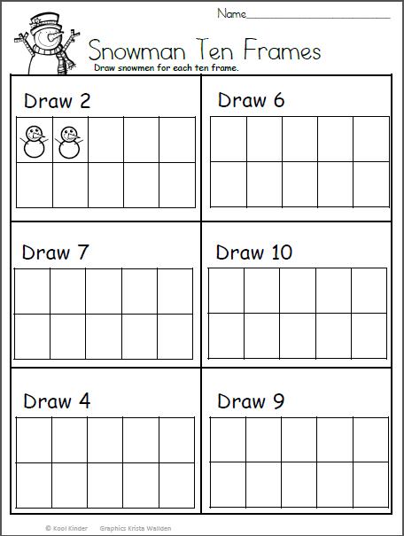Free Kindergarten Winter Math Printable Worksheet