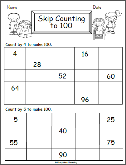 Math Worksheet Counting By 4s and 5s - Madebyteachers