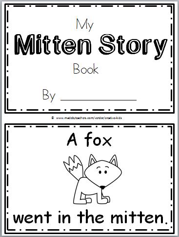 free mitten story kindergarten