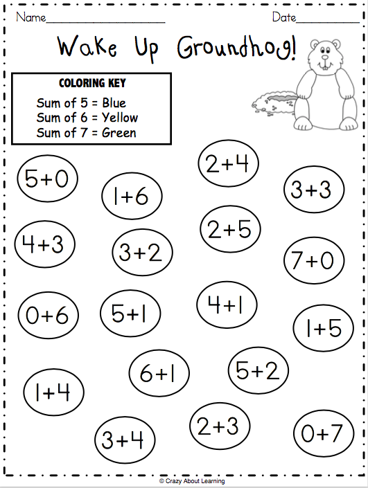 It's just an image of Dynamic Free Printable Groundhog Day Worksheets