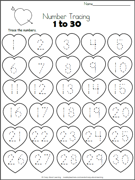 valentine 39 s day math write numbers 1 20 madebyteachers. Black Bedroom Furniture Sets. Home Design Ideas