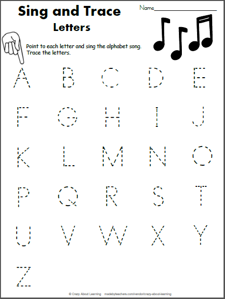 Sing and Trace the Alphabet