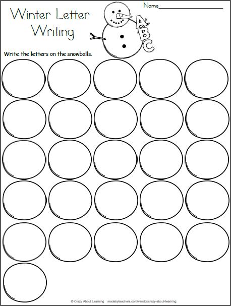 Snowball Letter Writing Worksheet - Madebyteachers