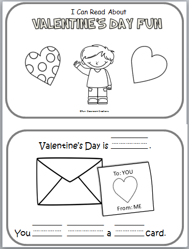 Free Valentine's Day fun mini book