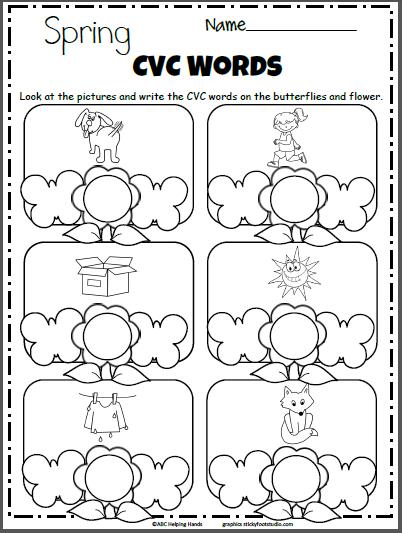 Spring Cvc Words Worksheet Madebyteachers