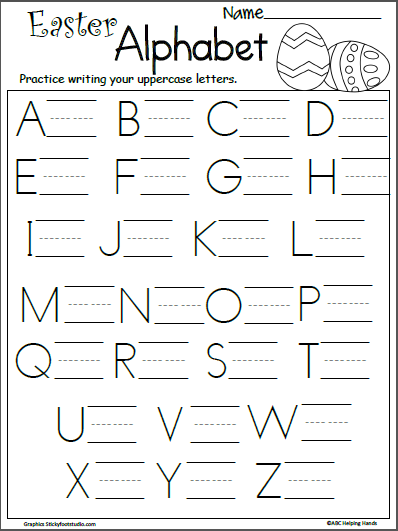 free easter letter writing practice