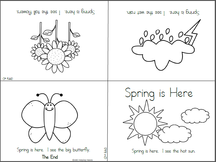 Free Foldable Spring Mini Book - Made By Teachers