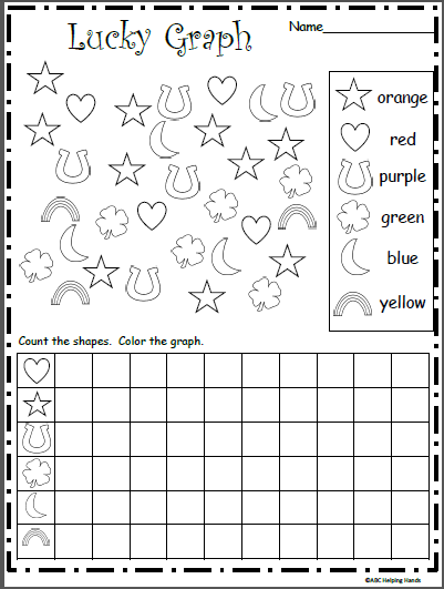 picture about St Patrick Day Puzzles Printable Free called Totally free Privileged St. Patricks Working day Graph Worksheet. - Madebyteachers